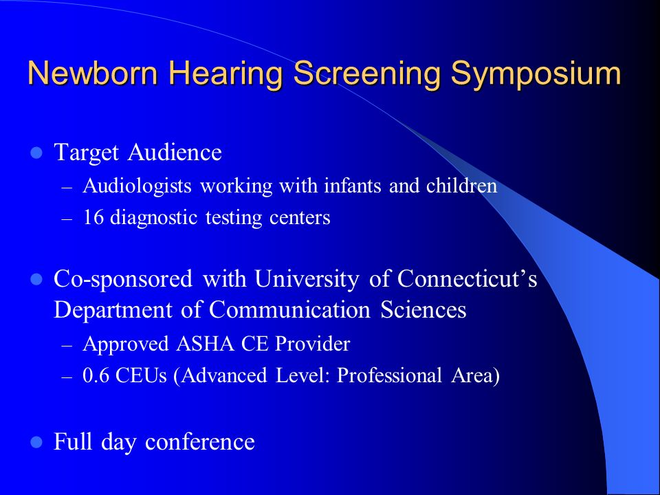 Newborn Hearing Screening Symposium