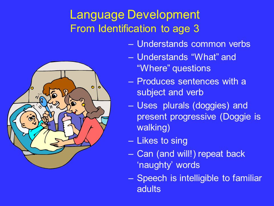 Language Development From Identification to age 3