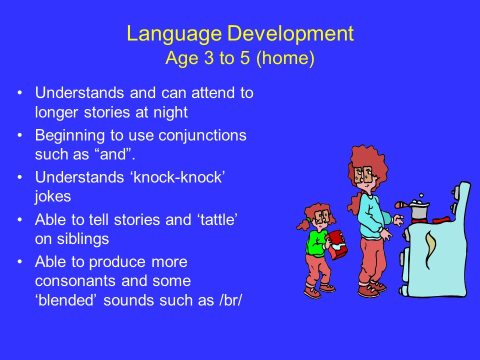 Language Development Age 3 to 5 (home)