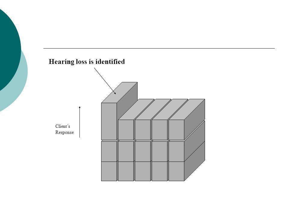 Hearing loss is identified