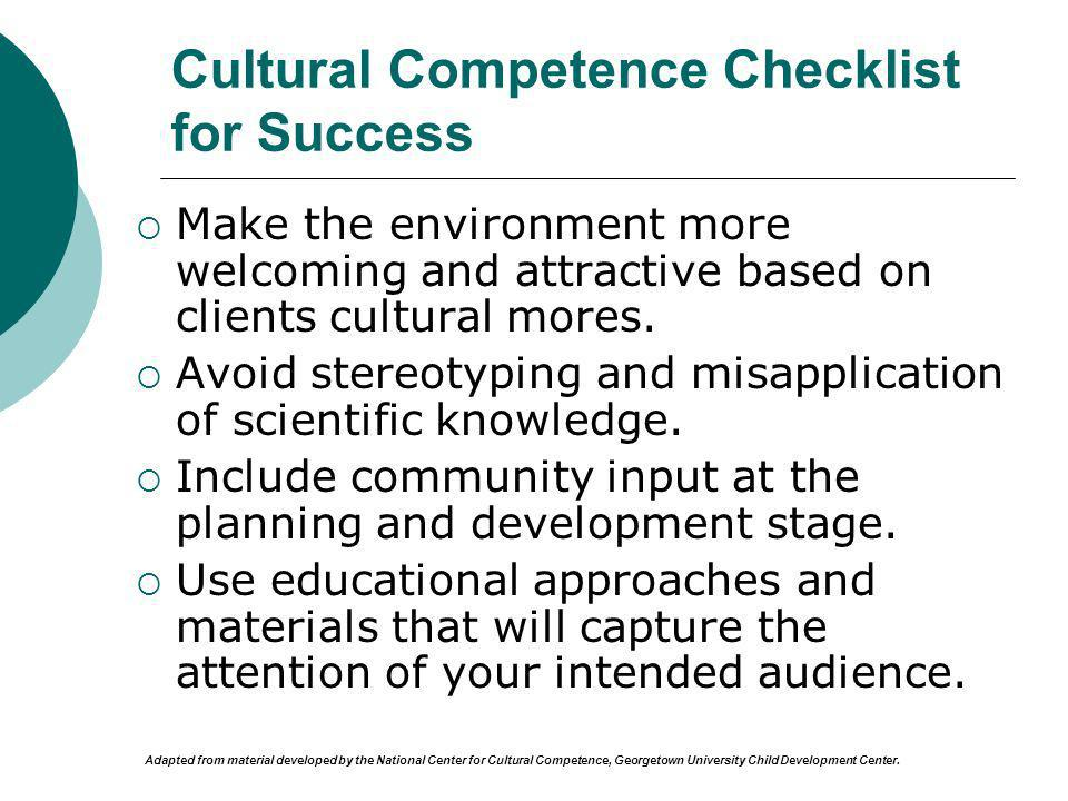 Cultural Competence Checklist for Success