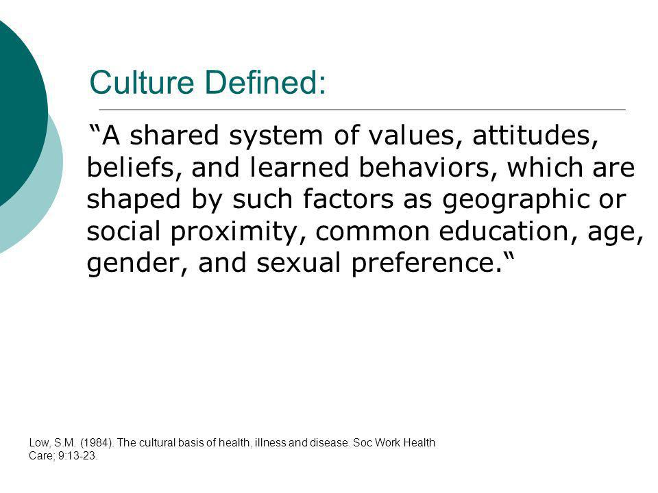 Culture Defined: