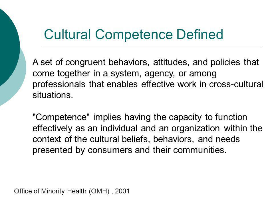 Cultural Competence Defined