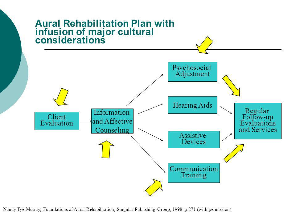 Aural Rehabilitation Plan with infusion of major cultural considerations