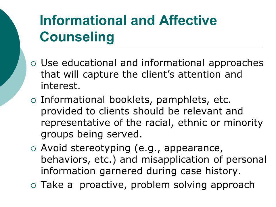 Informational and Affective Counseling