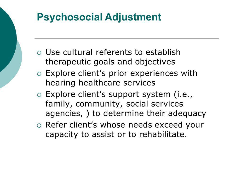 Psychosocial Adjustment