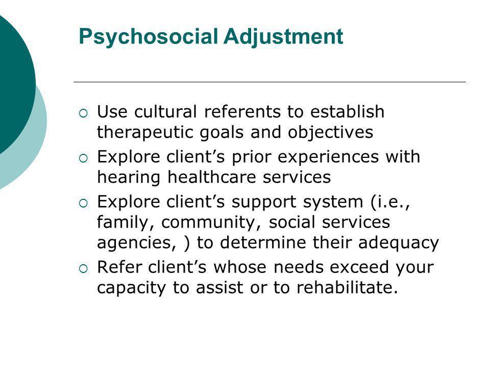 Psychosocial Adjustment