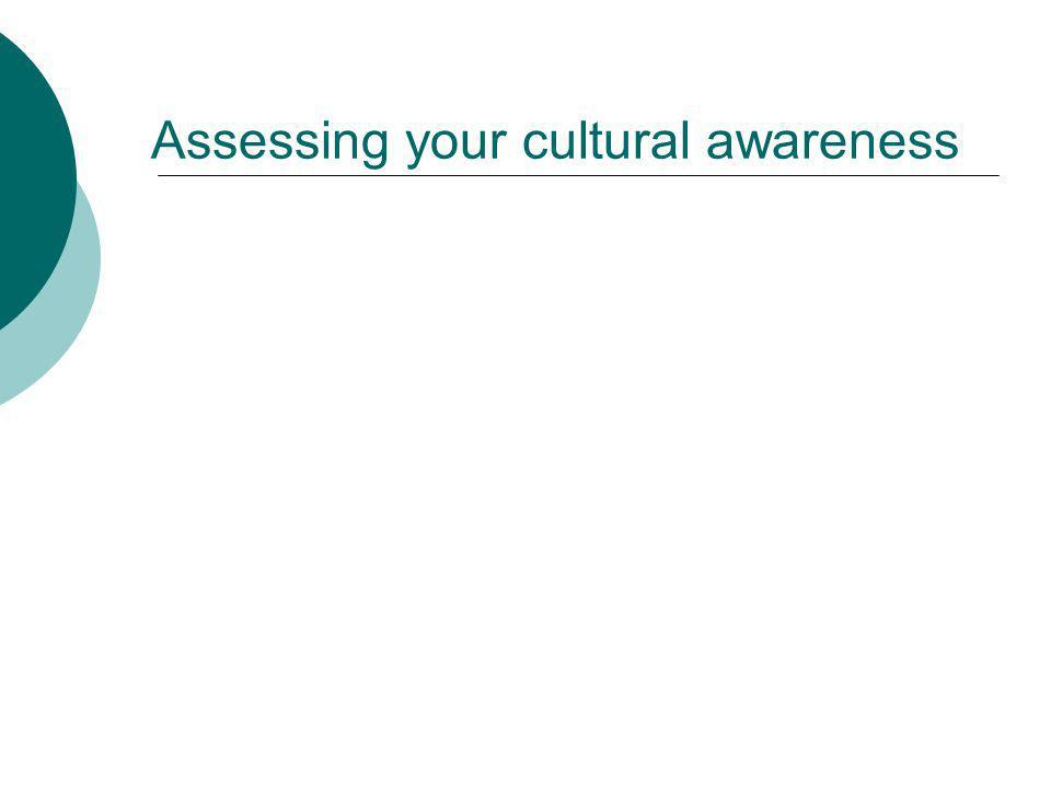 Assessing your cultural awareness