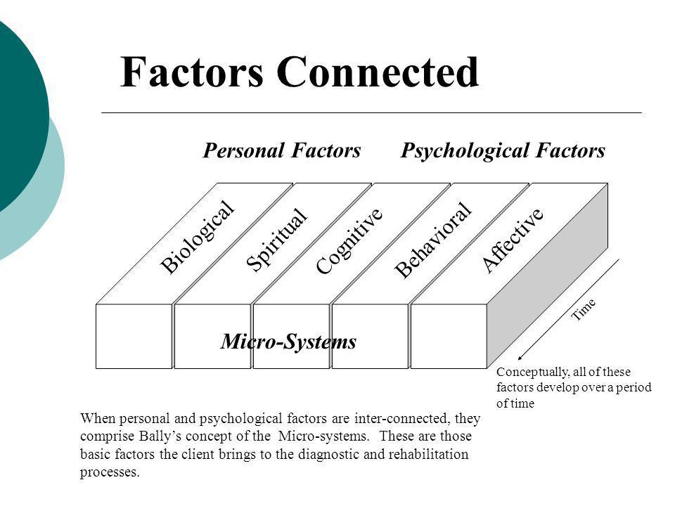 Factors Connected Personal Factors Psychological Factors Biological