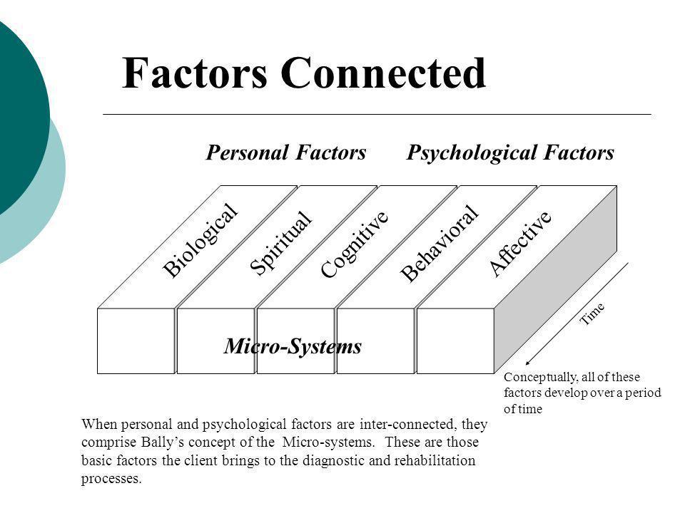 Factors Connected Personal Factors Psychological Factors Biological