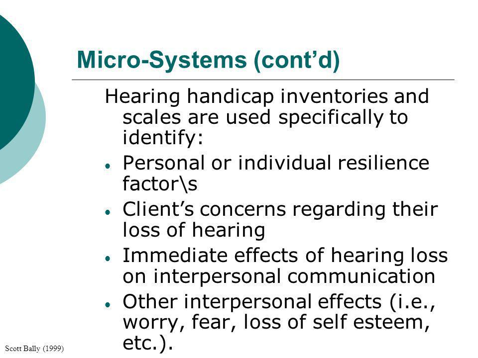 Micro-Systems (cont'd)