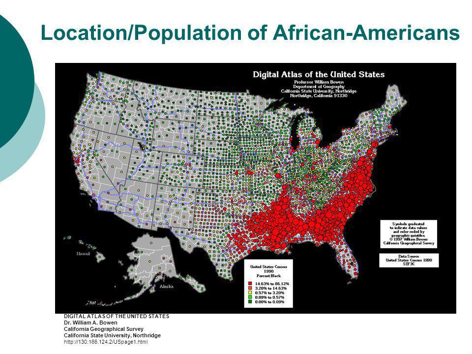 Location/Population of African-Americans