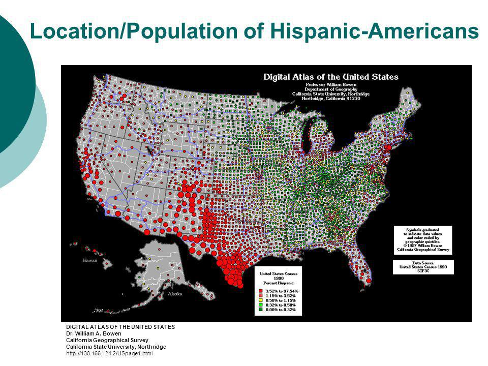 Location/Population of Hispanic-Americans