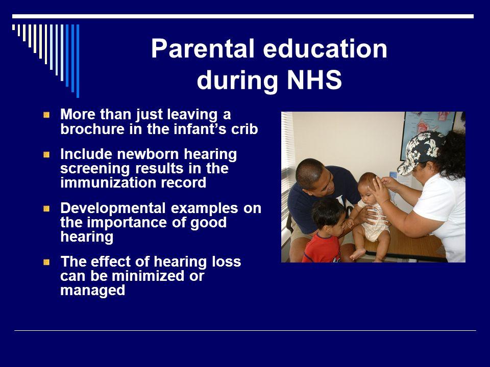 Parental education during NHS