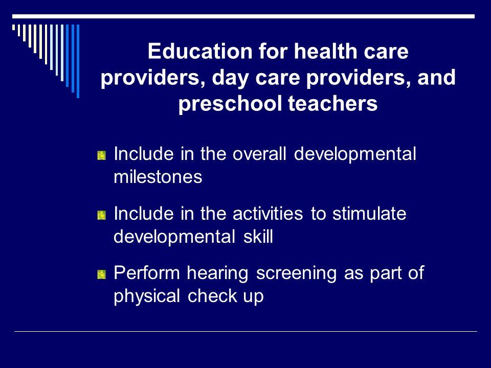 Include in the overall developmental milestones