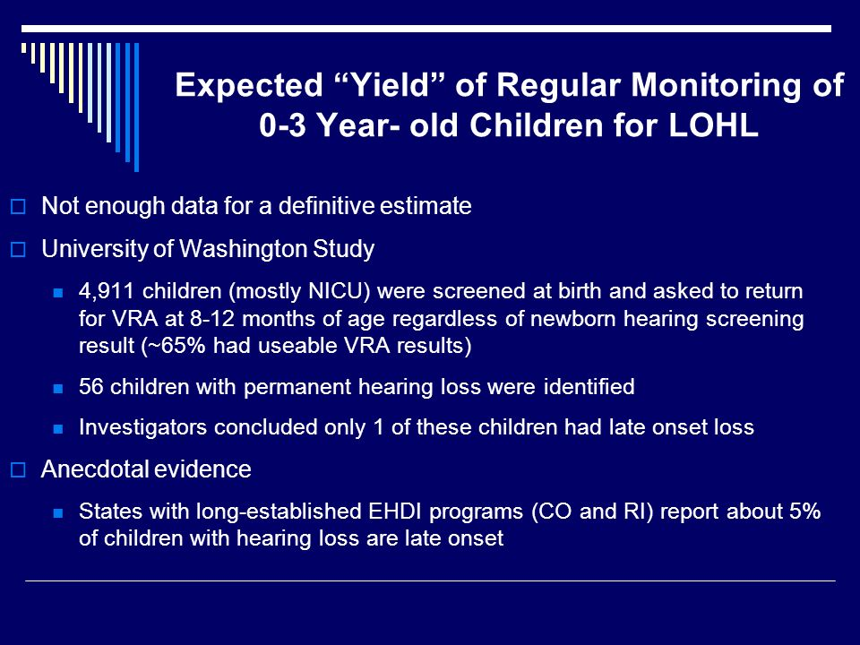 Expected Yield of Regular Monitoring of 0-3 Year- old Children for LOHL