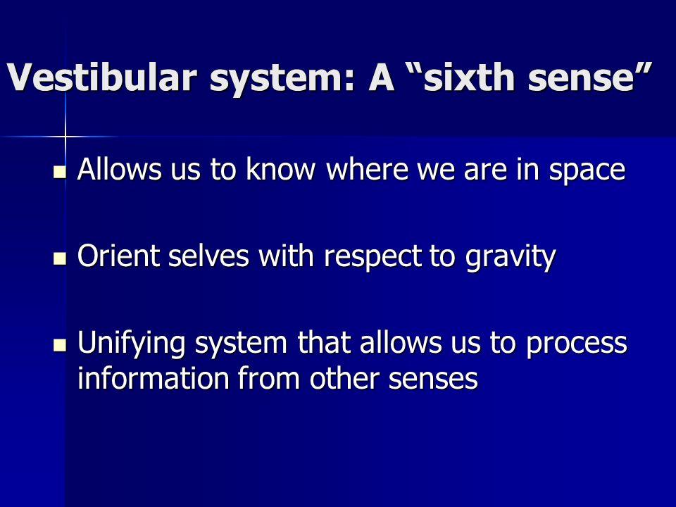 Vestibular system: A sixth sense