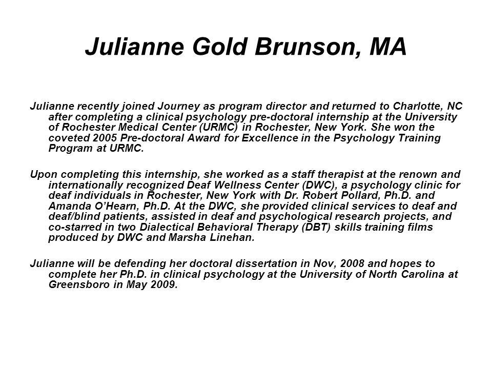 Julianne Gold Brunson, MA