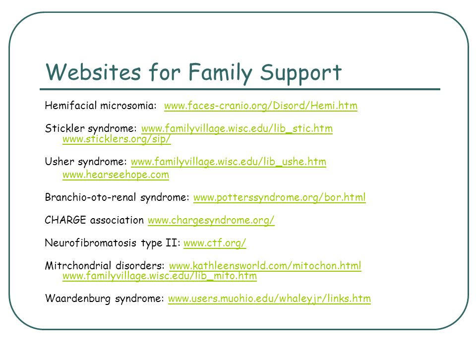 Websites for Family Support