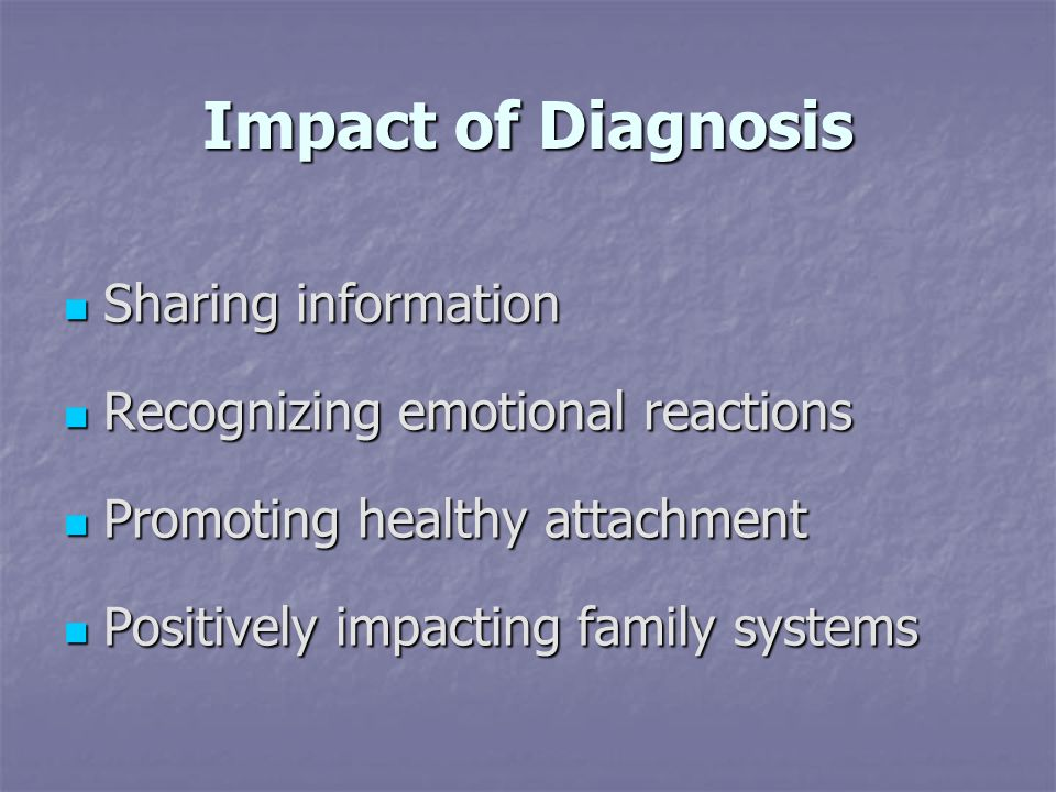 Impact of Diagnosis Sharing information