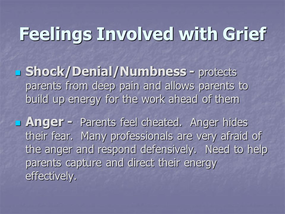 Feelings Involved with Grief