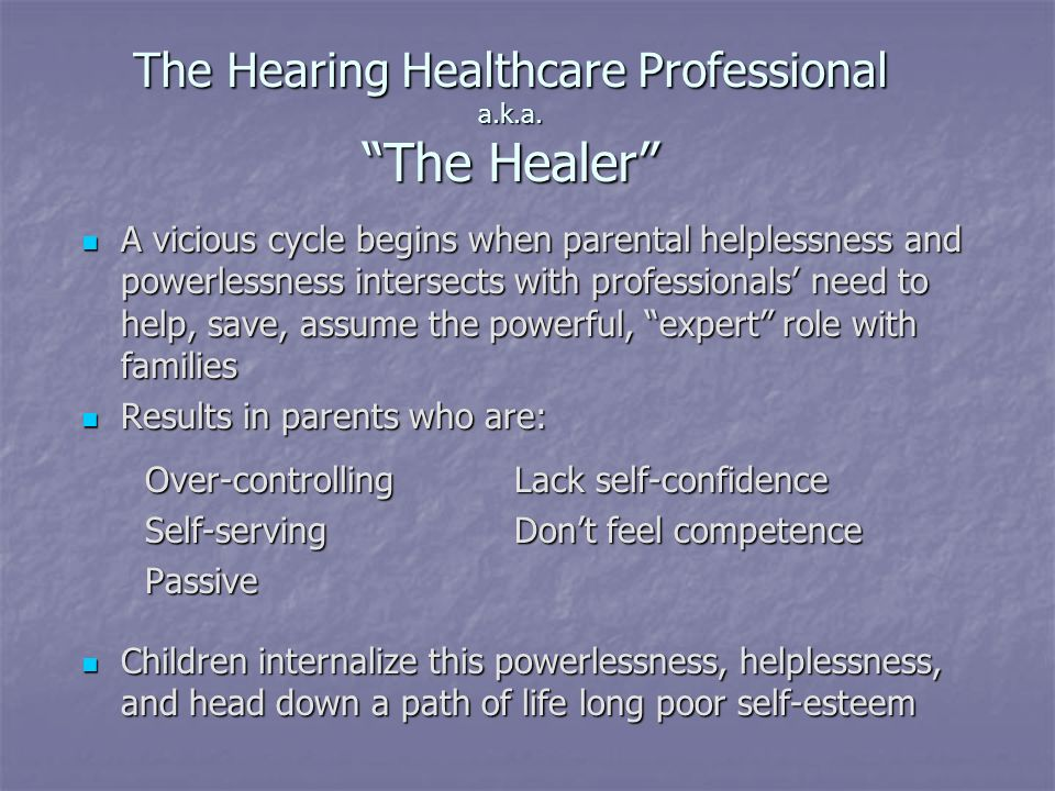 The Hearing Healthcare Professional