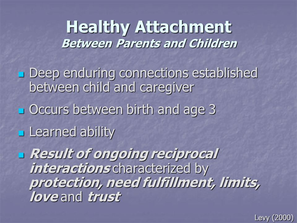 Healthy Attachment Between Parents and Children