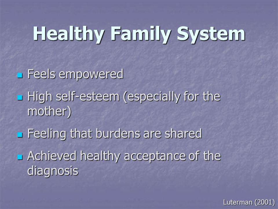 Healthy Family System Feels empowered