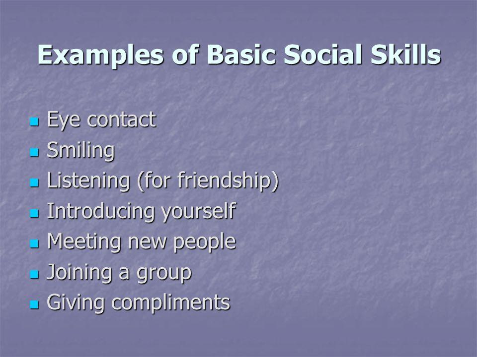 Examples of Basic Social Skills