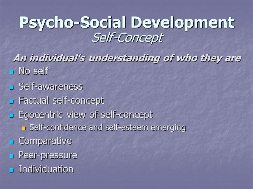 Psycho-Social Development Self-Concept