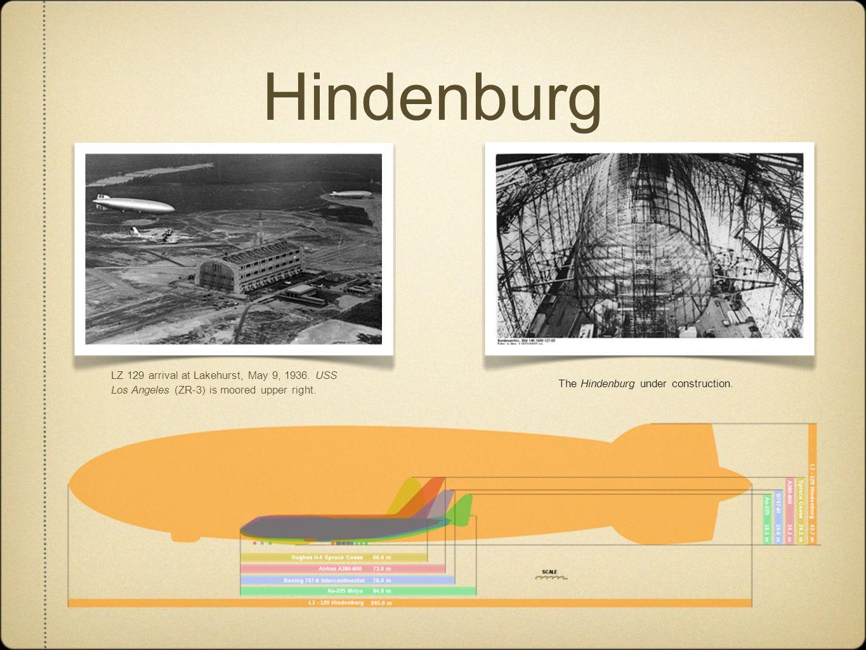 HindenburgLZ 129 arrival at Lakehurst, May 9, 1936.