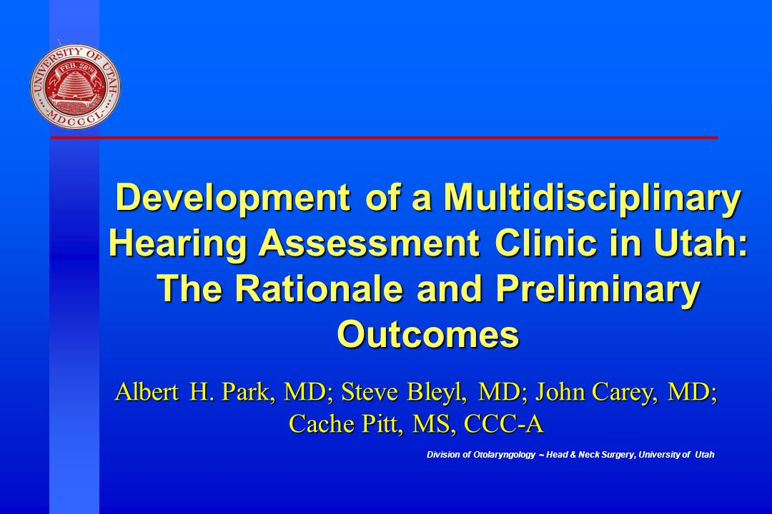 Development of a Multidisciplinary Hearing Assessment Clinic in Utah: The Rationale and Preliminary Outcomes