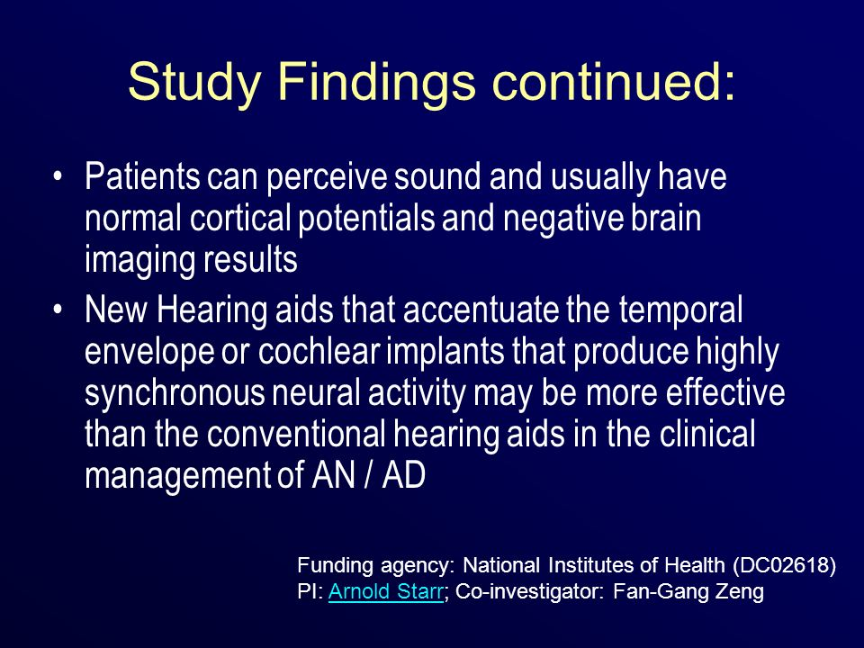 Study Findings continued: