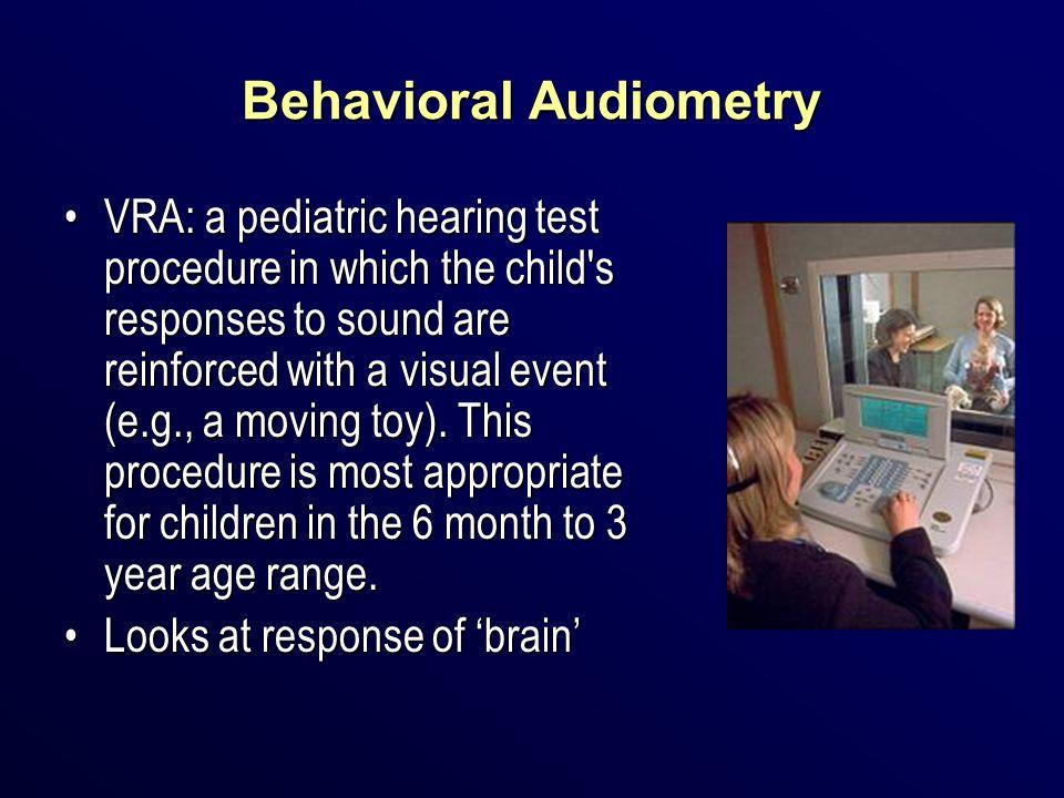 Behavioral Audiometry