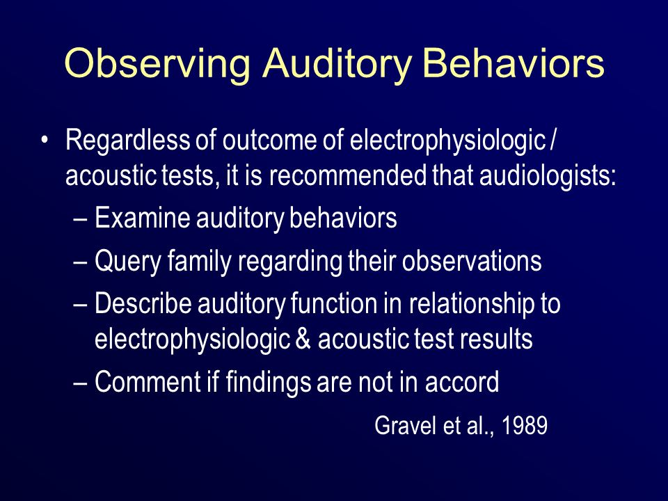 Observing Auditory Behaviors