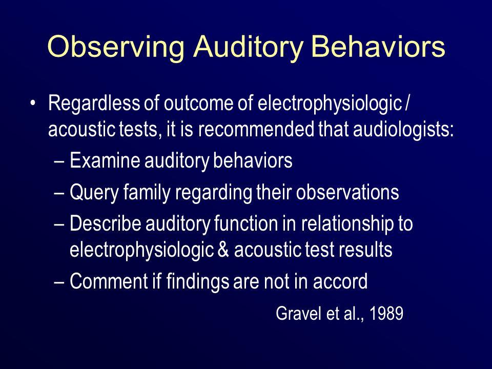 Observing Auditory Behaviors