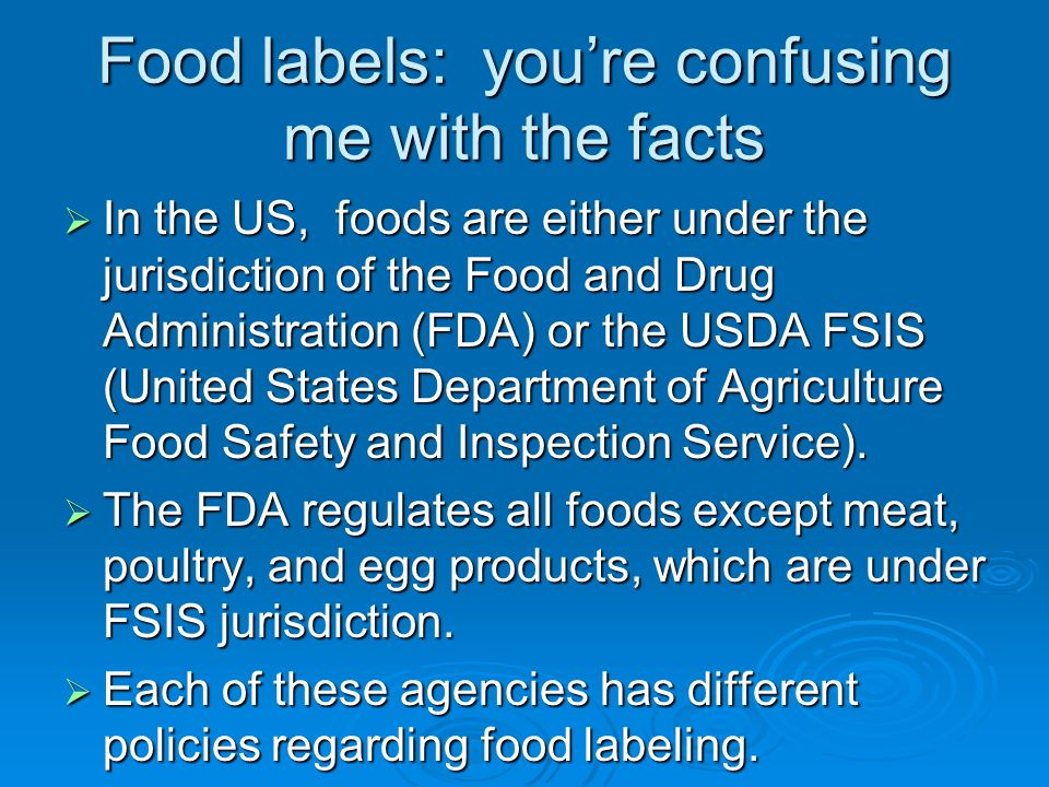 Food labels: you're confusing me with the facts