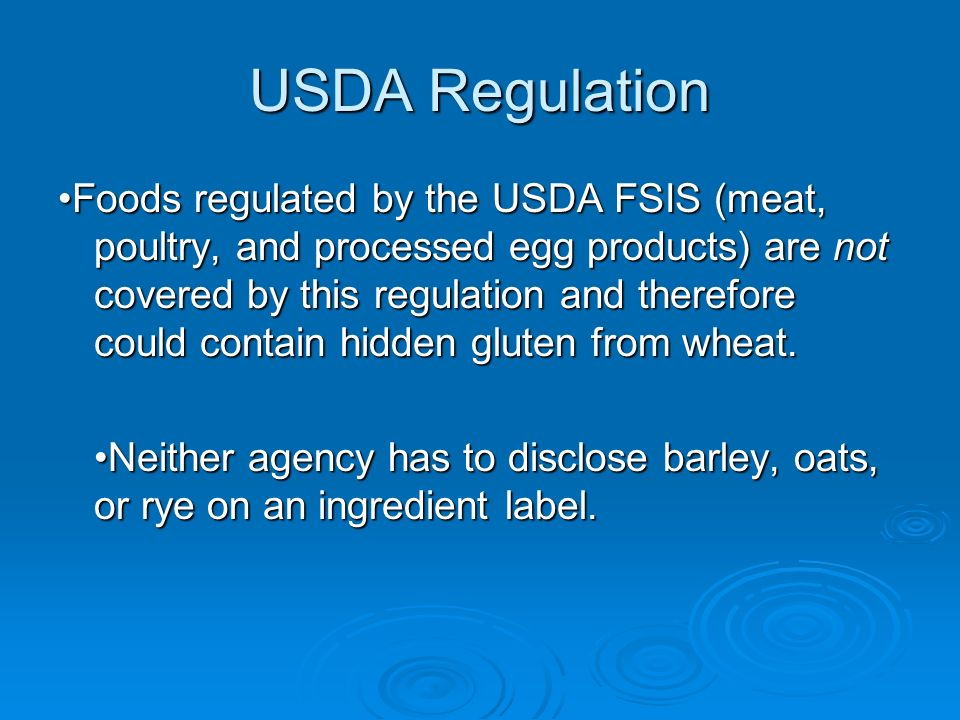 USDA Regulation