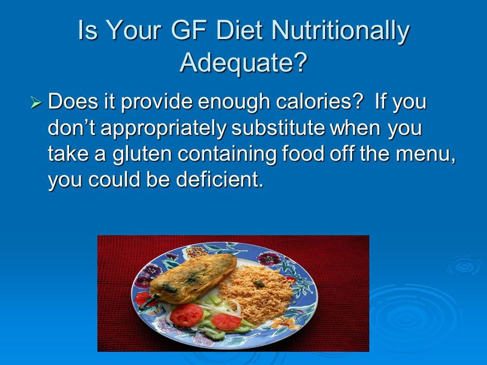 Is Your GF Diet Nutritionally Adequate