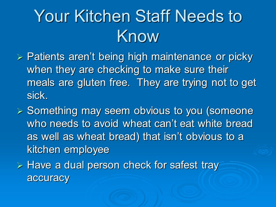 Your Kitchen Staff Needs to Know