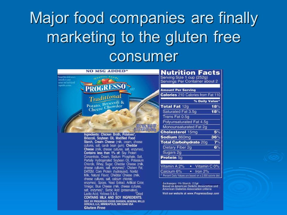 Major food companies are finally marketing to the gluten free consumer