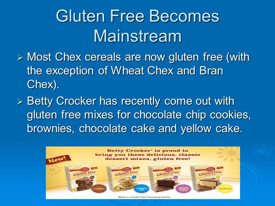 Gluten Free Becomes Mainstream