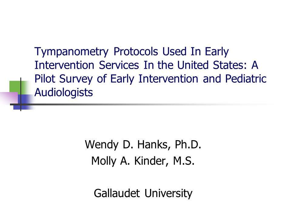 Wendy D. Hanks, Ph.D. Molly A. Kinder, M.S. Gallaudet University