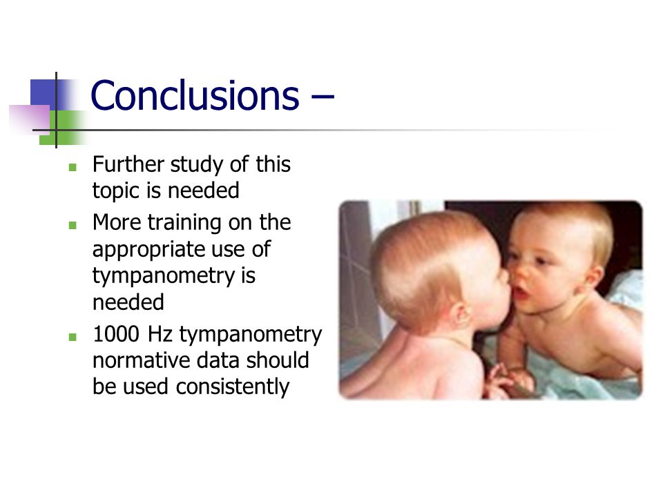 Conclusions – Further study of this topic is needed