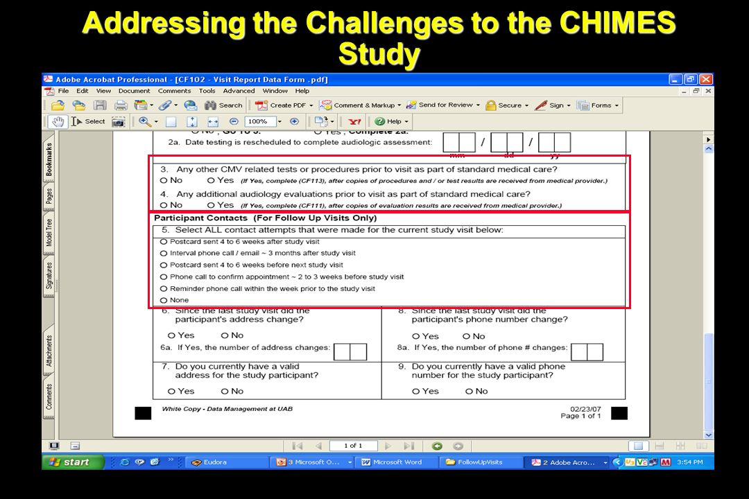 Addressing the Challenges to the CHIMES Study