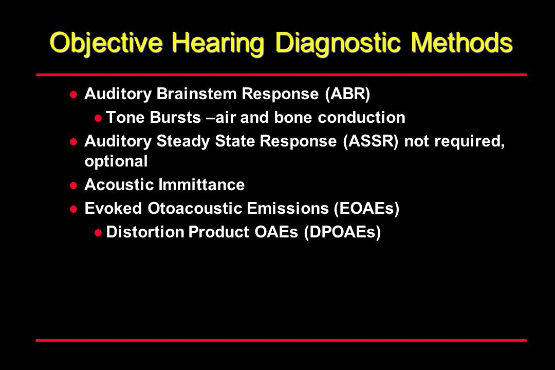 Objective Hearing Diagnostic Methods