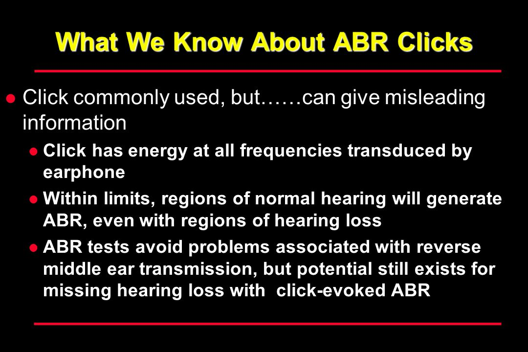 What We Know About ABR Clicks