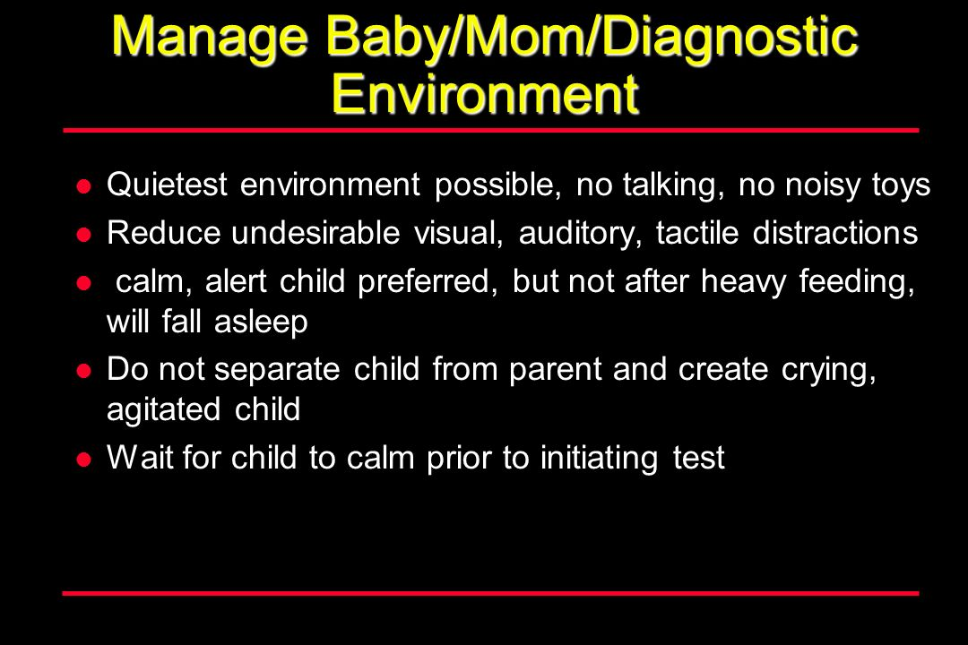 Manage Baby/Mom/Diagnostic Environment