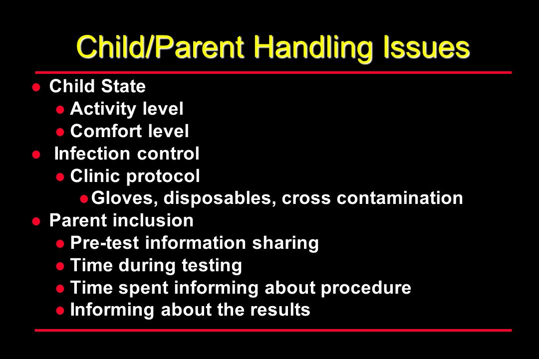 Child/Parent Handling Issues