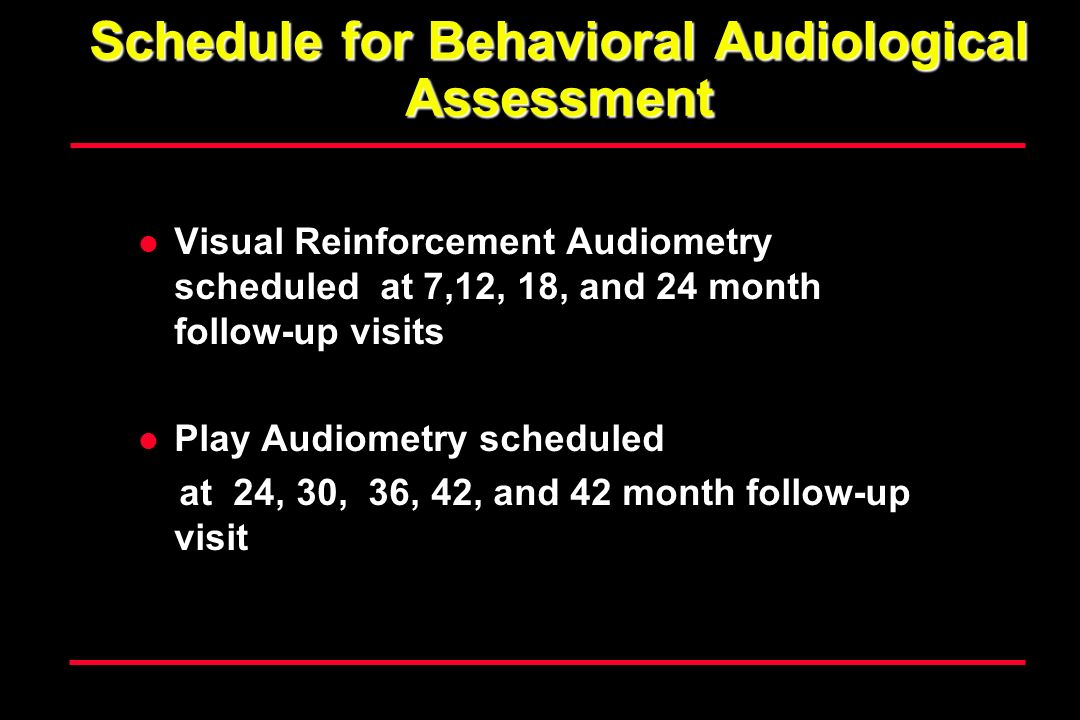Schedule for Behavioral Audiological Assessment